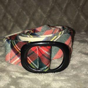 J. Crew Fabric Belt size M/L